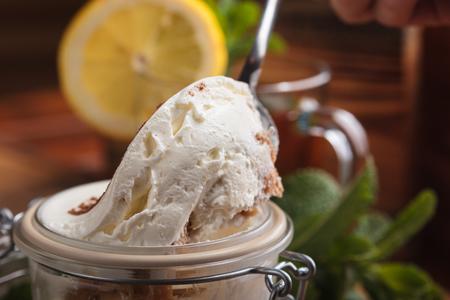 gluttony: Concept: restaurant menus, healthy eating, homemade, gourmands, gluttony Tiramisu dessert on a spoon closeup