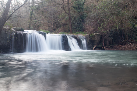 exposition: Waterfalls Treja Valley, long exposition Stock Photo