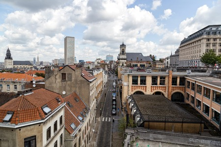 Bruxelles: View of Minimenstraat street - Bruxelles (Belgium)