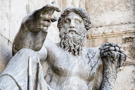 Le statue del Nilo - piazza del Campidoglio - Roma (Italia) Archivio Fotografico - 39030040