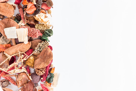 Potpourri border - with blank space for the text Archivio Fotografico