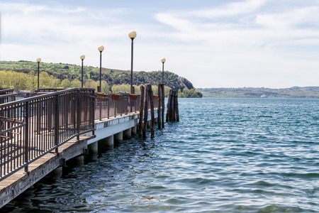 Right jetty39s view of the lake Bracciano Anguillara Lazio Italy