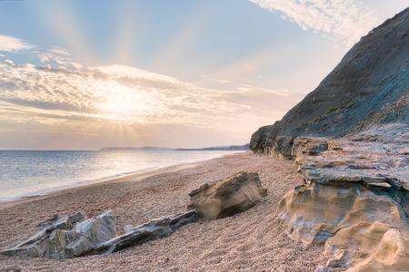Brook Bay, Île de Wight - Angleterre (Royaume-Uni) Banque d'images - 43883322