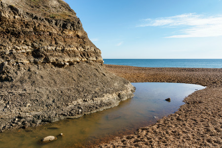 geology: Fossils and Geology of Brook Bay - Isle of Wight Stock Photo