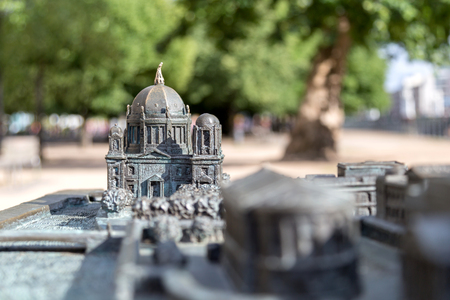 Bronze model of Berlin Cathedral - Focus on Chatedral