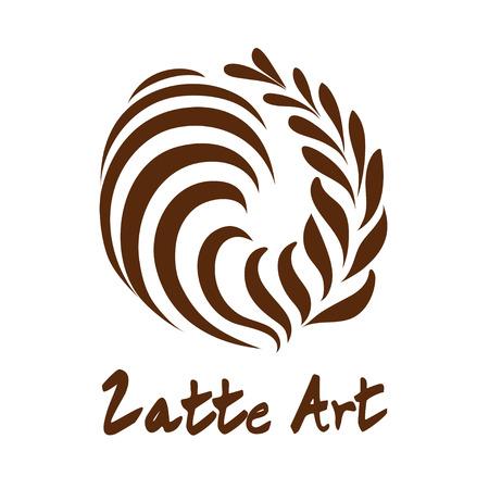 Swing Rosetta Coffee Latte art , Icon, Symbol with white background