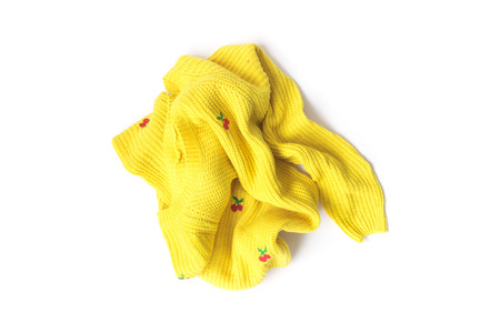 Yellow Clothes color wait for clean washed, workhouse concept