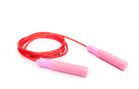 Jump Rope, skipping rope on white background