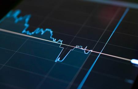 Closeup graph of Binary option for trading platform Standard-Bild