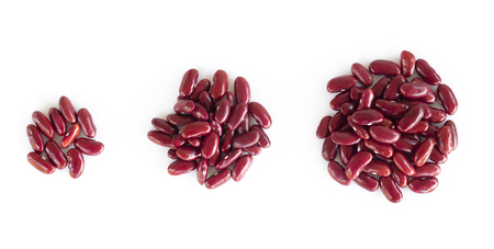 Closeup red beans on white background, healthy food concept