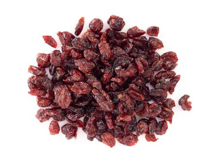 Dried Dried canberry mix blueberry fruit isolated on white backgroud, food healty diet 스톡 콘텐츠 - 128849776