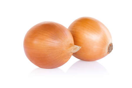 Onion isolated on white background, raw food