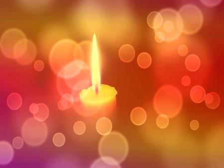 luz de velas: Luz de las velas y bokeh de fondo