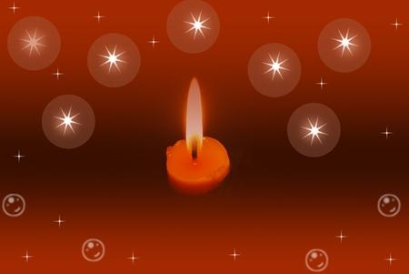 luz de velas: luz de las velas y el fondo