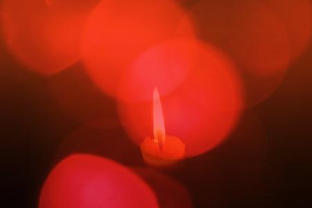 luz de velas: bokeh y luz de las velas Foto de archivo