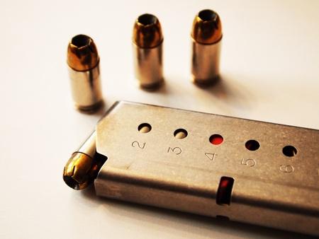 semi automatic: 6 round magazine clip semi automatic postol Stock Photo