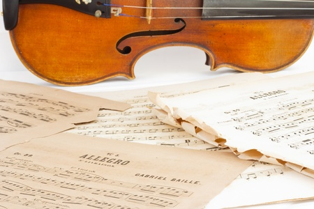 sheetmusic: The Violin and sheetmusic