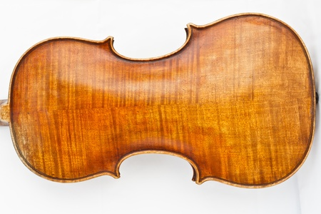old sheet music: Back side of violin Stock Photo