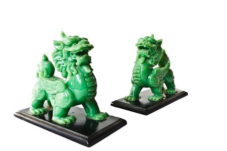 jade: Dragon headed unicorn made of jade