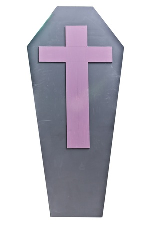 Casket with cross sign Stock Photo - 12957099