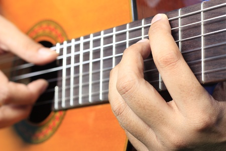 Posture fingering for the guitar Stock Photo - 13055320