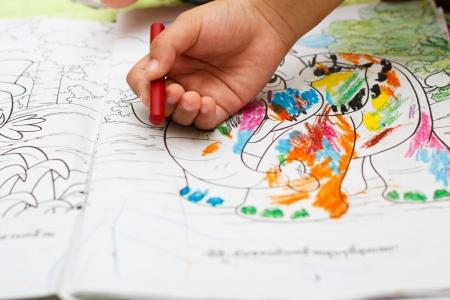 hand schilderen: Kinderen de hand schilderen foto