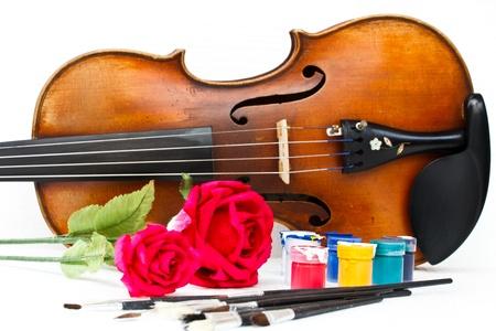 The violin and roses photo