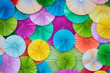 circle shape: circle shape of origami colors papers.