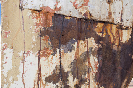corroded: Rusty old wood texture
