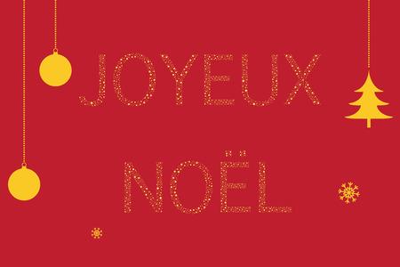 Feliz navidad en frances Foto de archivo - 89462397
