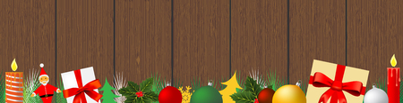 Christmas decoration web banner