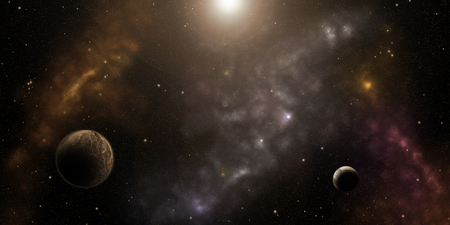 Cosmos, nebulas, stars and planets. Sci-Fi background Foto de archivo - 95057440