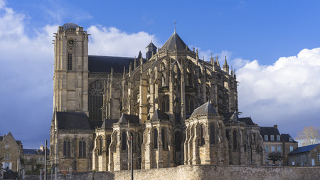 Cathedral of Le Mans city, France