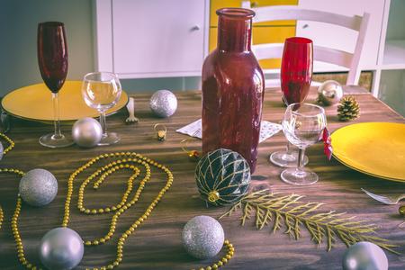 Christmas or Thanksgiving table setting
