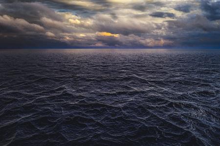 Dramatic sky over the sea Stok Fotoğraf