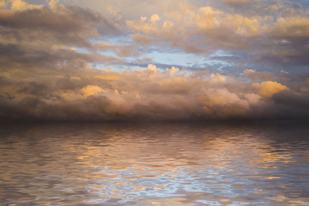 Abstract sky and sea at sunset