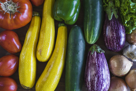 Fresh vegetables from my garden Stok Fotoğraf
