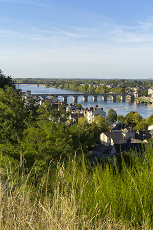 View of Saumur city, France
