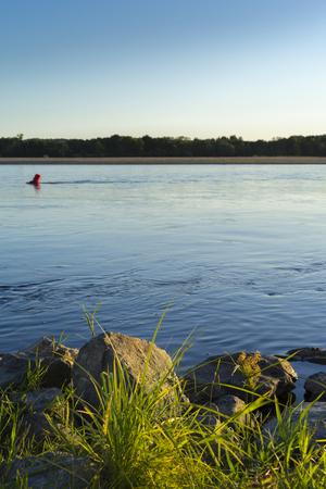 Loire River. Islands and sanbanks.