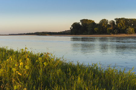 Loire River. Islands and sanbanks.