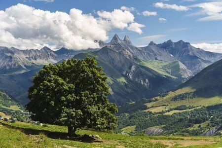Mountains. landscape. French Alps Foto de archivo - 132854562