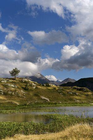 French Alps scenery in Arvan Valley Foto de archivo - 132854565