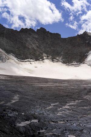 French Alps Glacier. Ecrins National Park, France Foto de archivo - 132854569