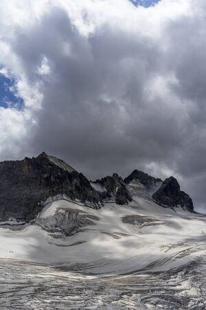French Alps Glacier. Ecrins National Park, France Stok Fotoğraf