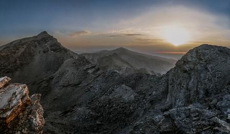 ムラセン山とベレタ、イベリア半島の 2 の最高峰 写真素材