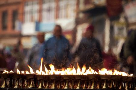 Blurred by the Flames in Kathmandu (Nepal)