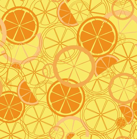 seamless pattern with citrus pieces
