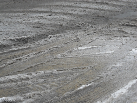 granizados: Slush en las carreteras
