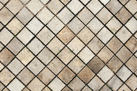 Old Tile Floor on Walkway Background photo