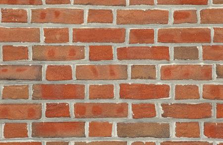 brickwork: Red brick wall texture background Stock Photo
